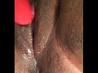 Black Dildo Ebony Exotic BBW Indian Playing Pussy